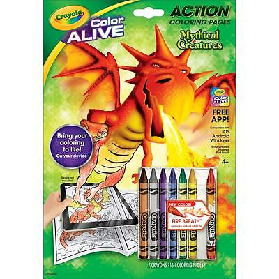 Crayola Color Alive Action Coloring Pages - Mythical Creatures   95-1046