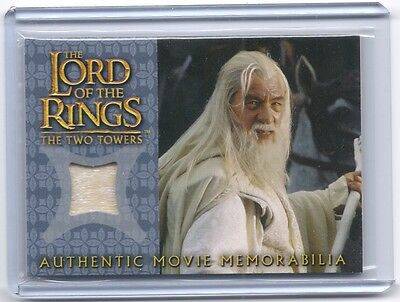 LOTR Lord Of The Rings Gandalf's Silk Shirt memorabilia costume swatch card #7