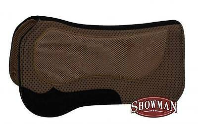 "Showman 30"" X 31"" BROWN Western Waffle Saddle Pad w/ Non Slip Poly Grip! TACK!"