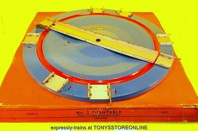 hornby o spares series no2 blue/red manually operated tinplate turntable boxed