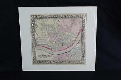 Original Plan of City of Cincinnati & Vicinity Map S. Augustus Mitchell 1860