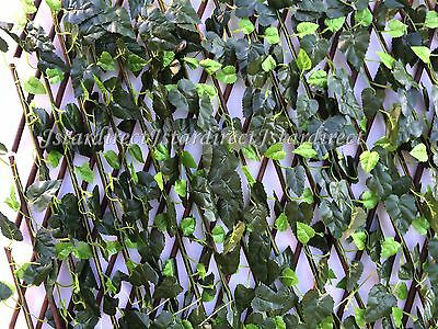 Expandable Faux Ivy Trellis Hedge Plant for Both Outdoor Indoor Backdrop Garden