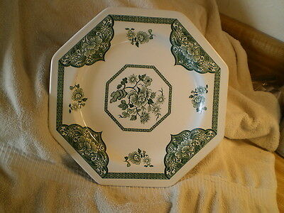 J & G Meakin, Royal Staffordshire Old Pekin Plate England, Octoganel Green