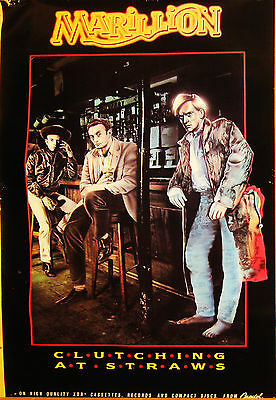 """Marillion Clutching at Straws VINTAGE PROMO POSTER 1987 24"""" X 36"""" VERY GOOD"""