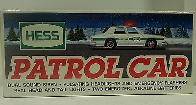 Hess Gasoline 1993 Toy Truck Patrol Car Vinatge Police Cruiser In box