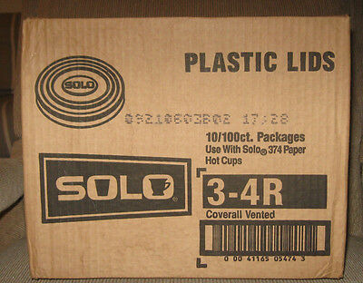 Solo Cup Lid 3-4R 1000/cs New for Espresso Cup Vented for 374 cup