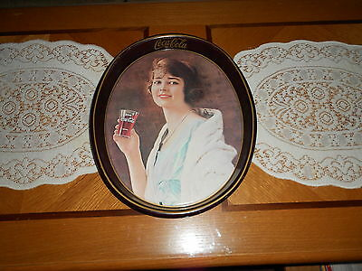 Vintage Coca Cola Tray Of 1914 Betty Girl Reproduction 1972 Excellent Shape