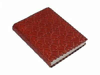 Handmade Red Leather Diary Notepad Personal Journal Hardbound 5x7 Inches With