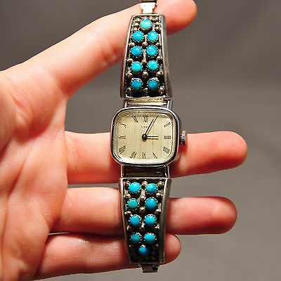 Native American Navajo Sterling Silver Turquoise Watch Band And Watch  YAZZIE