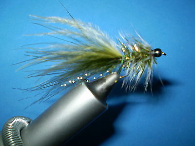 Steelhead/salmon/trout Wooly  Bugger #8, Olive Qty 3