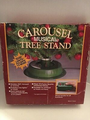 Carousel Musical Tree Stand rotates pulsates lights plays 18 songs with remote