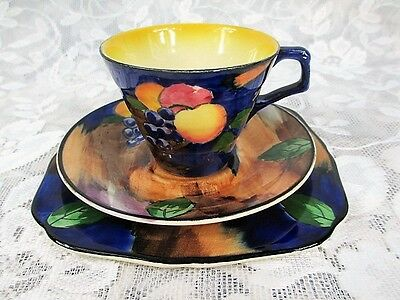 """Vintage H&K Tunstall England- """"AUTUMN"""" TRIO Cup, Saucer, Side Plate #4899"""
