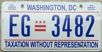 ������☀ AUTHENTIC USA WASHINGTON DC 2010's LICENSE PLATE.   ★•☆•★▄▀▄▀▄█▓