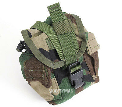 US Military Woodland MOLLE Canteen Cover Pouch - General Multi Purpose Bag