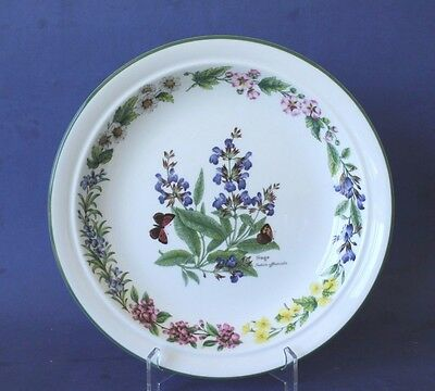 Royal Worcester Herbs plate.  Sage. Made in England.