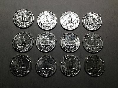 90% silver AU Washington quarters lot of 12