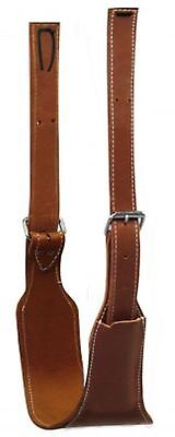 """Showman 5 1/2"""" Wide Quality Leather Horse Flank / Back Cinch W/ Roller Buckles!"""