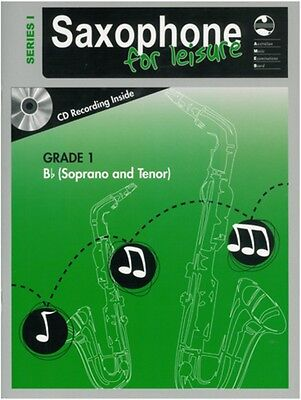 AMEB Saxophone For Leisure Grade 1 B Flat - Series 1 Music Book with CD