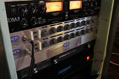 2 Chameleon Labs 7602 Mic Preamp EQs MkI w/ CPS-1 Power Supply - Neve 1073 Clone