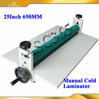 "25.5""Manual Cold Laminator Laminating Machine Mounting For Printing Shop"