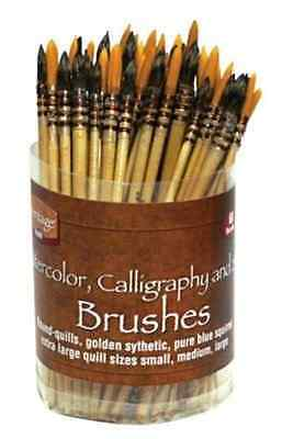 Watercolor Calligraphy and Silk Brush Assortment Set of 60