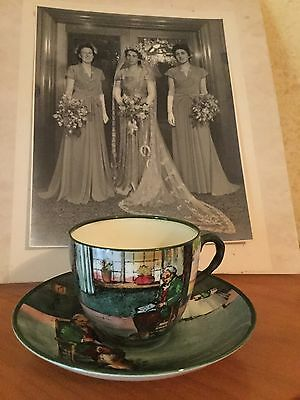Antique Vintage Royal Doulton Fireside Series Ware Cup & Saucer