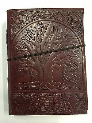 "Zap Impex Handmade Leather Diary Journal Notebook Hand embossed with ""Tree #25C"