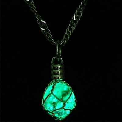 Chic Glow In The Dark Steampunk Pendant Magic Ball Necklace Jewelry Luminous