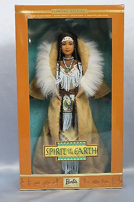 """NRFB 2001 Barbie """"Spirit of the Earth"""" 1st in LE Native Spirit Series"""