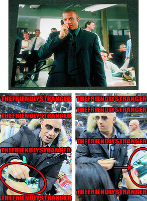 """VIN DIESEL signed """"BOILER ROOM"""" 8X10 Photo EXACT PROOF - FAST & FURIOUS xXx COA"""