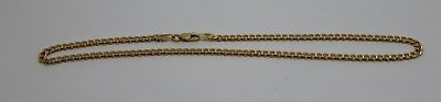 9CT SOLID YELLOW GOLD 25cm KERB CURB ANKLET BELCHER * FREE EXPRESS POST IN OZ