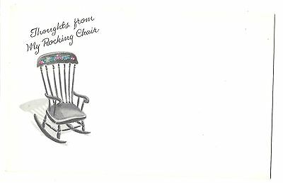Post A Note, Thoughts from my Rocking Chair