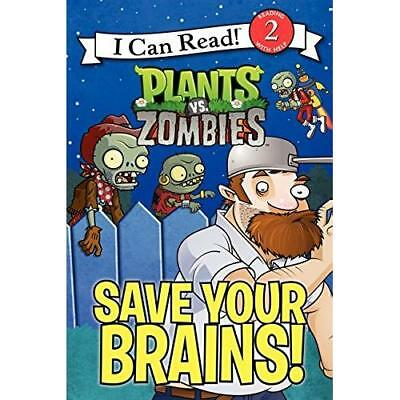 Plants vs. Zombies: Save Your Brains! (I Can Read Level 2) (Paperback)