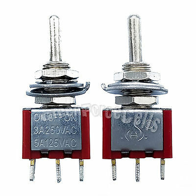 100pcs High Quality 3 Pin SPDT ON-OFF-ON 3 Position Mini Toggle Switches MTS-103