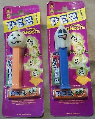 Pez Dispensers THAILAND GLOWING GHOSTS  SET OF 2 MINT