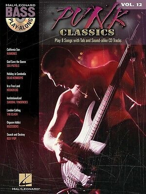Punk Classics Bass Play-Along - Bass Music Book with CD and Tab - Volume 12