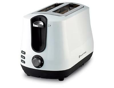 Russell Hobbs Siena White 2 Slice Electric Toaster RHT42WHI