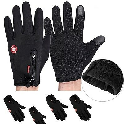 2 Pairs Winter Warm Windproof Waterproof Anti-slip Thermal Touch screen Gloves