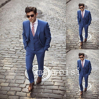 Custom Made Groom Tuxedos Best Man Three-Piece Suits Business Slim-Fit Suit 2017