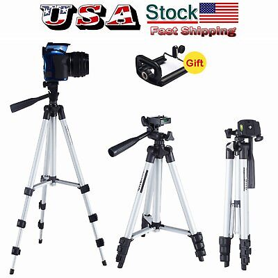 Pro Portable Universal Tripod Stand W/ Holder Bag For Camera Camcorder Phone US