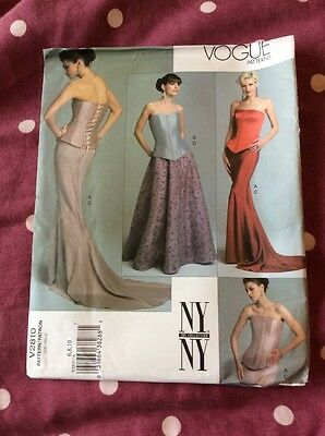 VOGUE EVENING SEWING PATTERN V2810 Sizes 6 8 10