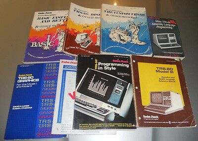 TRS-80 books set 8 great books to get you started on the Tandy computer