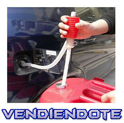 Bomba Manual Para Extraccion De Liquidos Extractor Gasolina Diesel Coche Moto