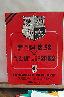 1977 new zealand universities  v britis lions    rugby union programme