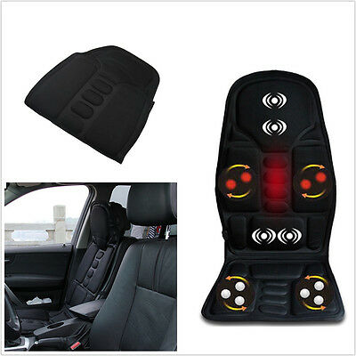 12V Autos Office Seat Chair Heated Cushion Pad Massager Neck Pain Lumbar Pillow