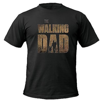 The Walking Dad T-shirt fathers day dead zombie gift funny up to 5XL