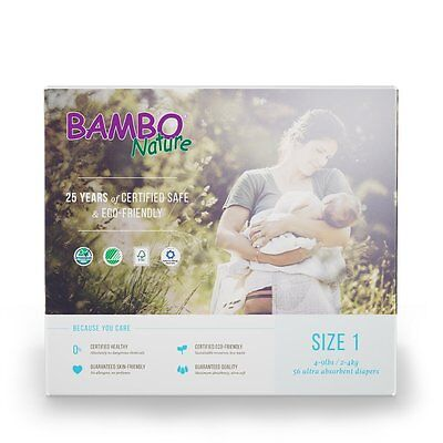 Bambo Nature Premium Baby Diapers, Size 1, 28 Count
