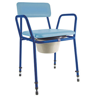 Essex Stacking Compact Commode Chair Adjustable Height Aidapt - VR161BLA