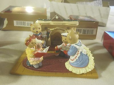 Hallmark Ornament-The Bearingers of Victoria Circle-Complete Set-dated 1993~2126