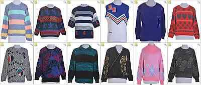 """JOB LOT OF 12 VINTAGE WOMEN""""S KNITS - Mix of Era's, styles and sizes (17908)*"""